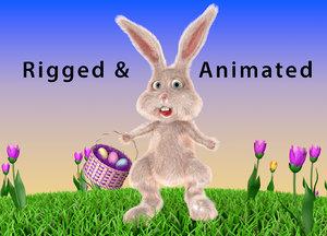 3D easter bunny model