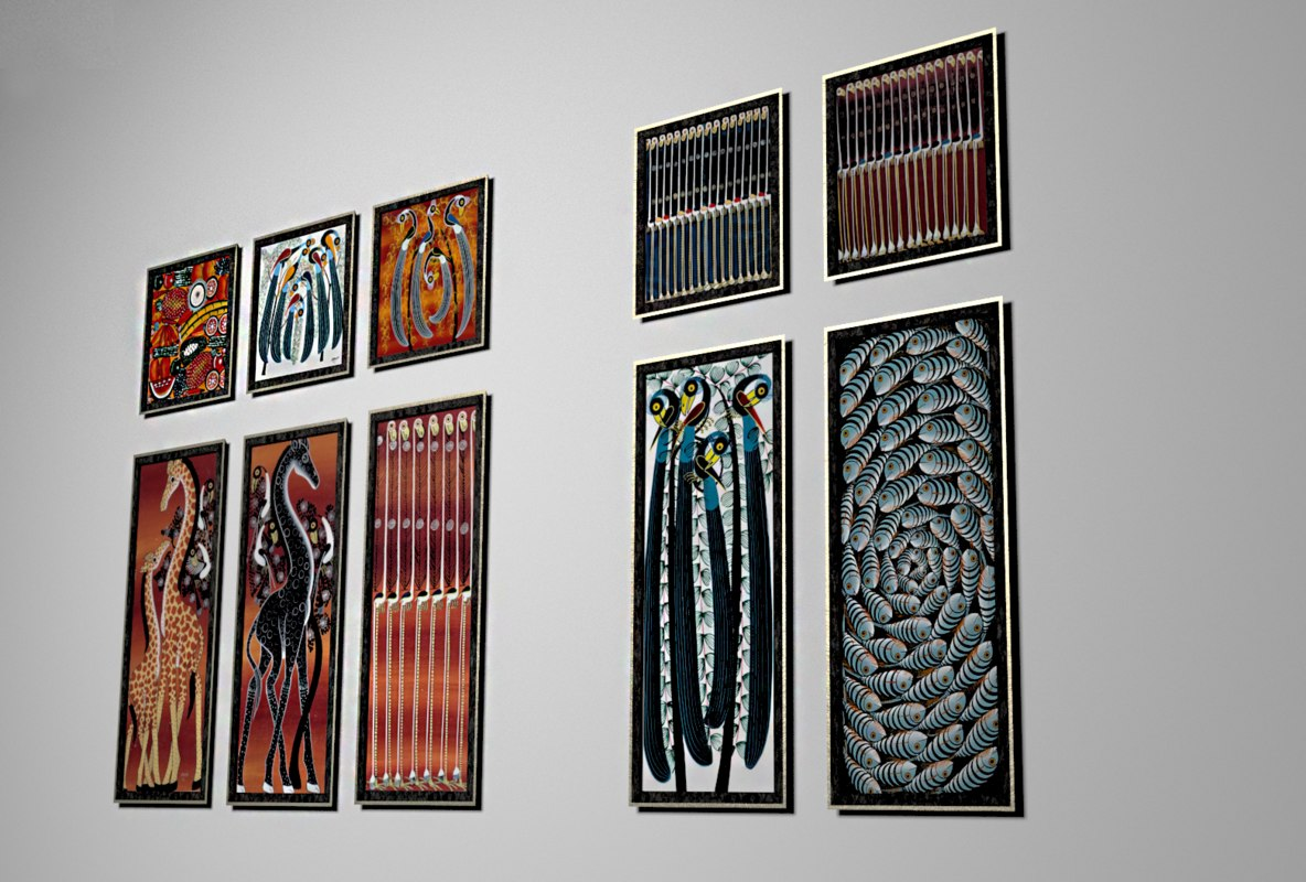 paintings african style 3D model