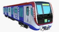 moscow metro train 3D model