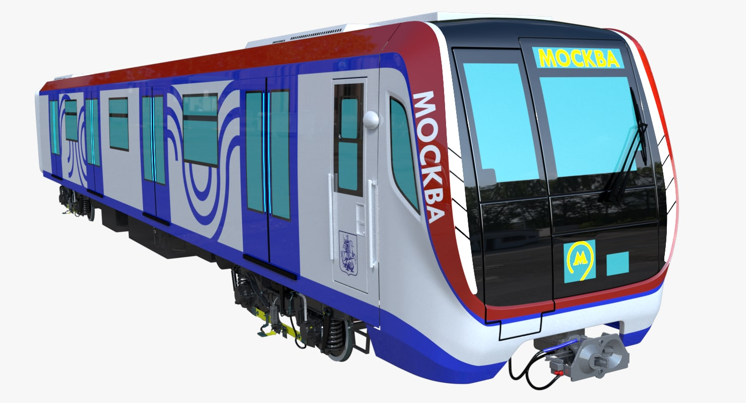 moscow metro train 3D model