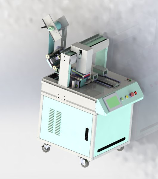 double location labeling machine 3D