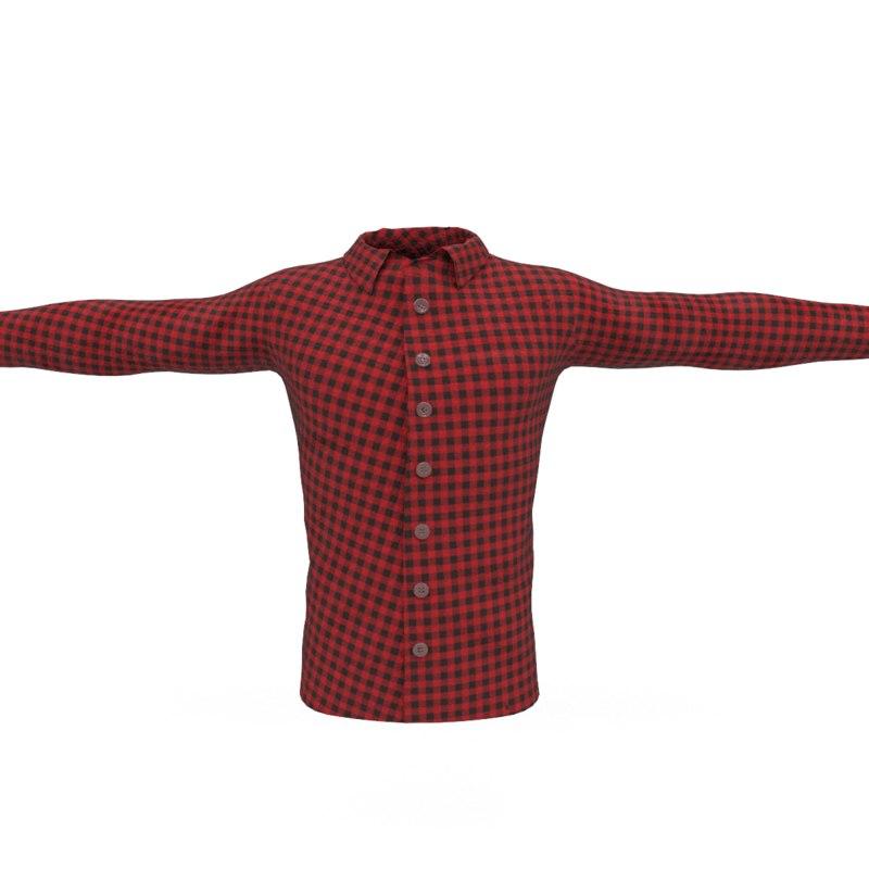 red male 3D model