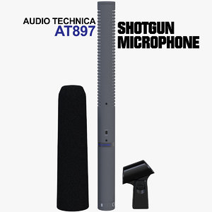 3D model boom technica microphone
