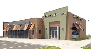 3D exterior panera bread site