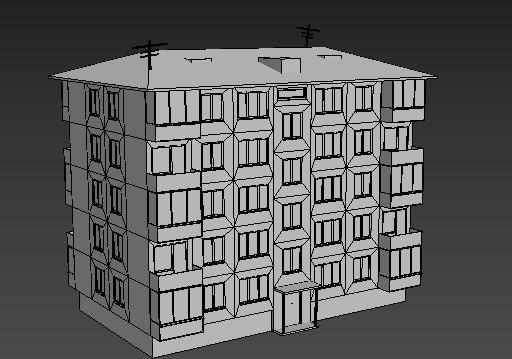 houses russia 3D model