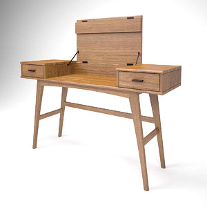 3D model writing desk console