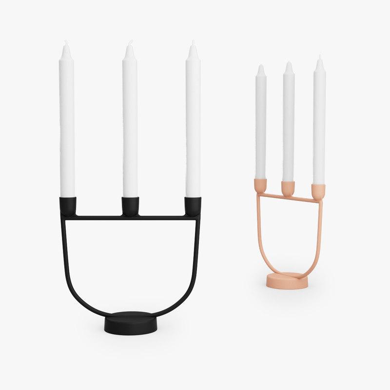 3D model muuto open candelabra