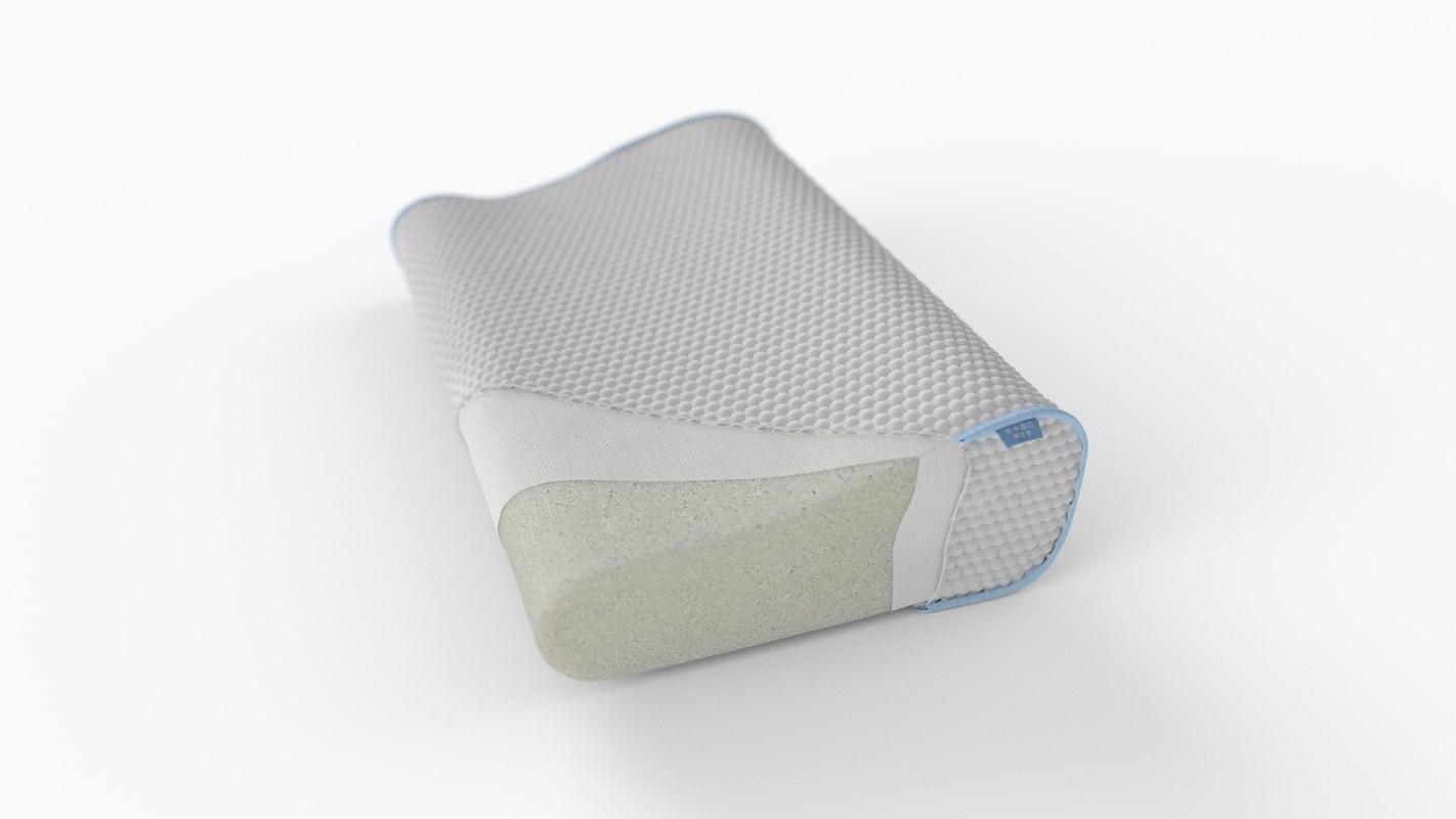 foam pillow layers 3D