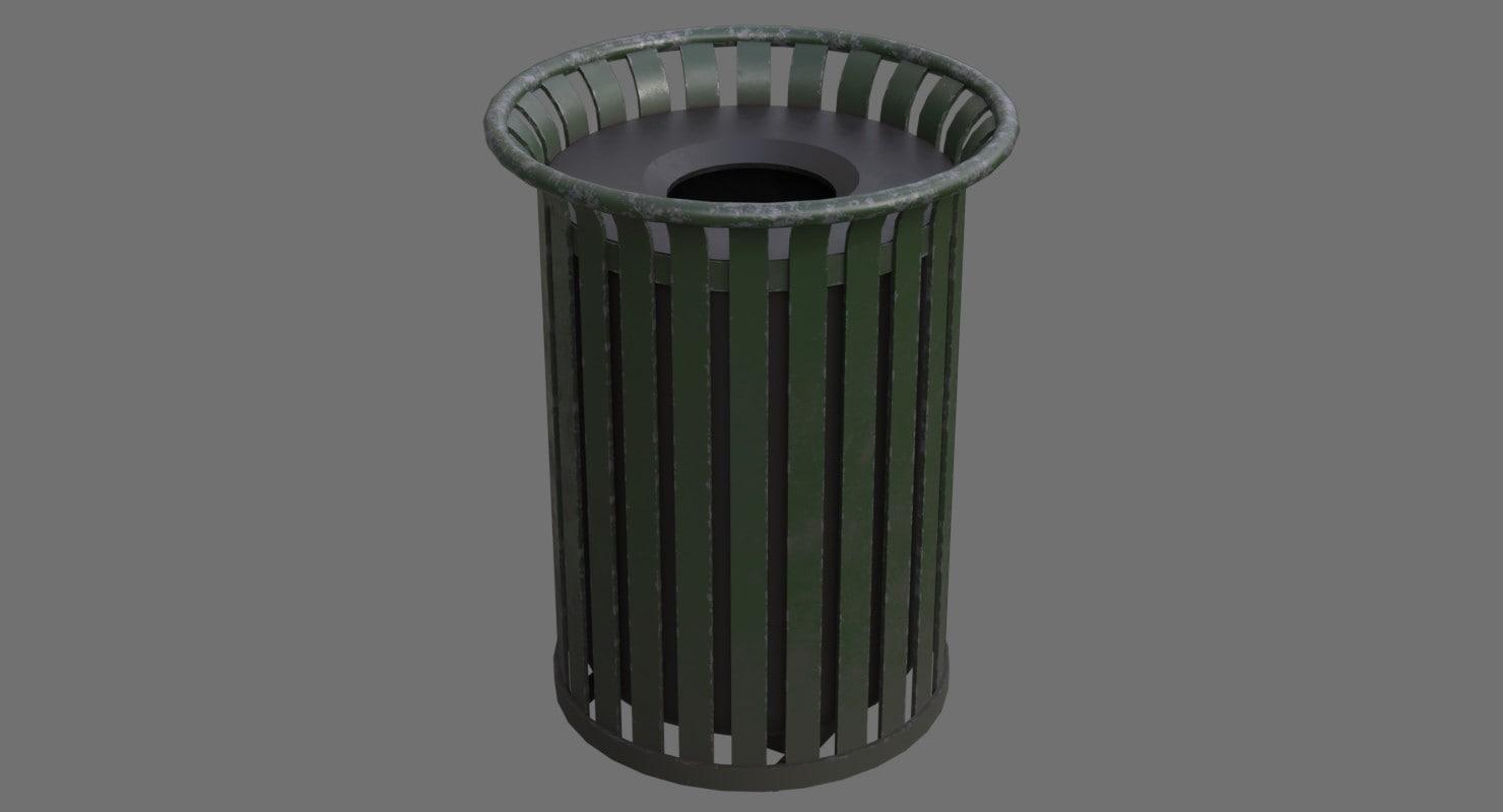 dustbin contains 4b 3D model