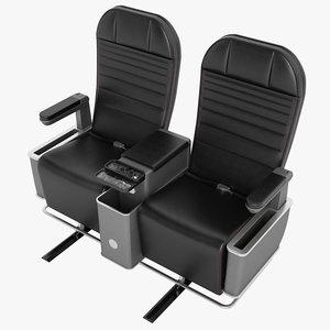 3D model class airplane chair