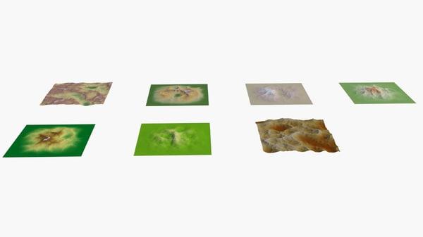 terrains landscape 3D model