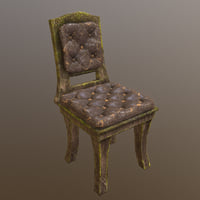 3D chair horror model