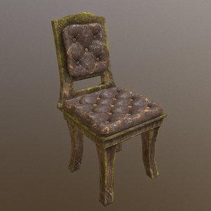3D chair horror model