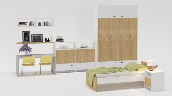 bedroom furniture bed model