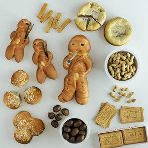 festive food 3D model