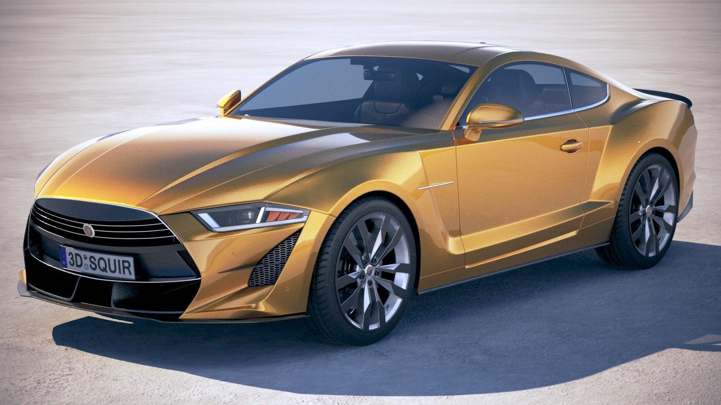 3D generic muscle car