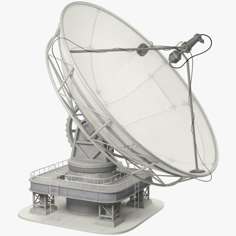 satellite dishes set 3D model