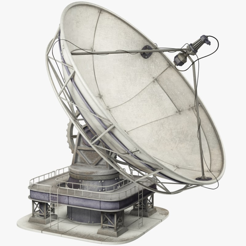 satellite dishes set 3D