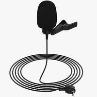 lapel microphone 3D