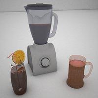 3D glass blender b