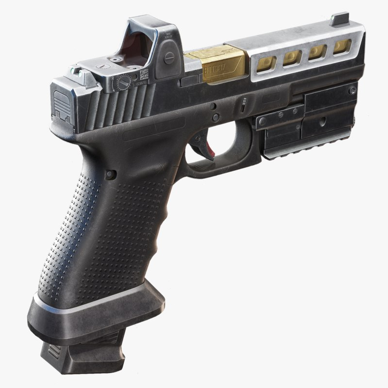 glock 17 attachments 3D model