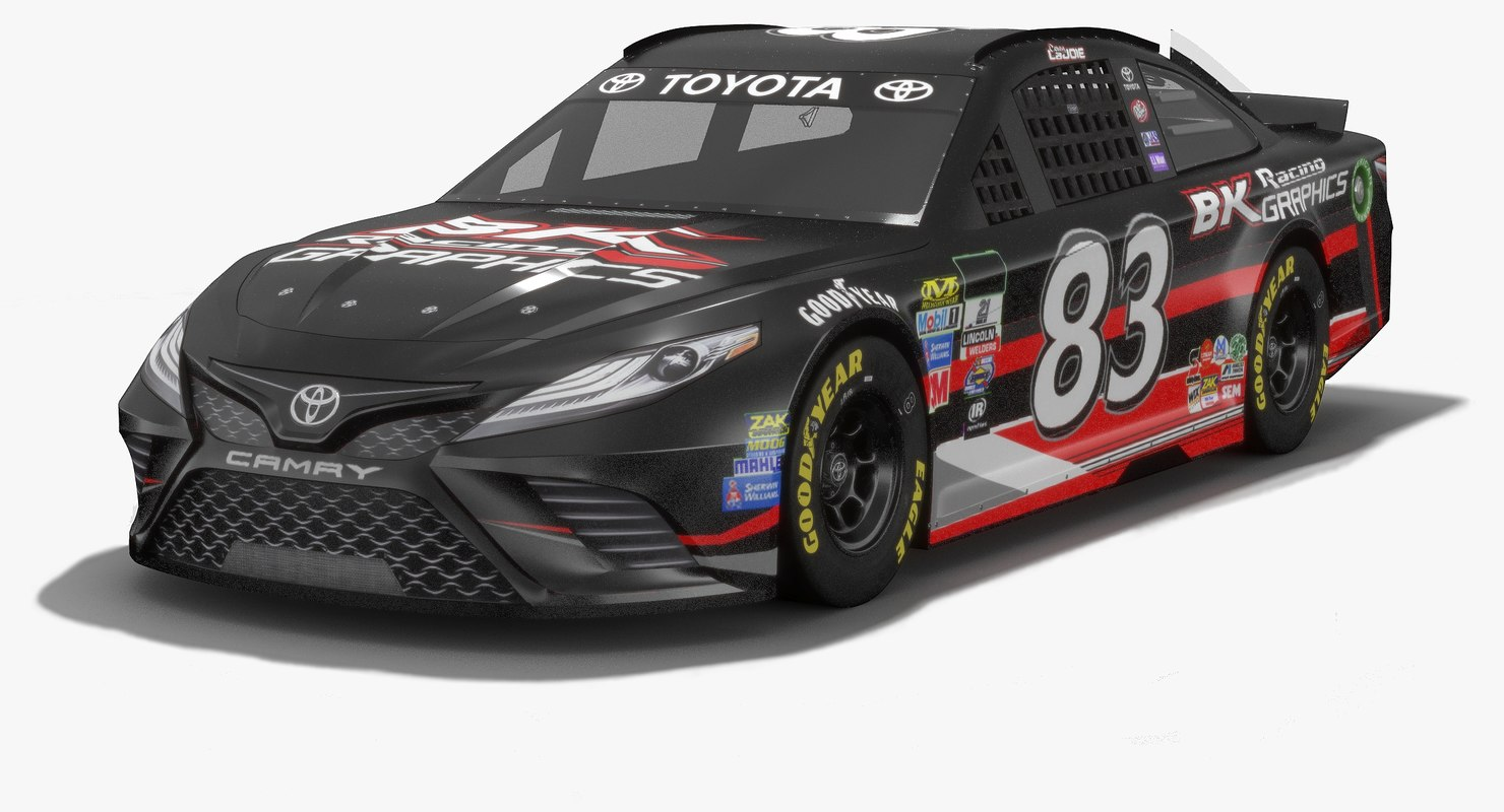 3D model bk racing nascar season