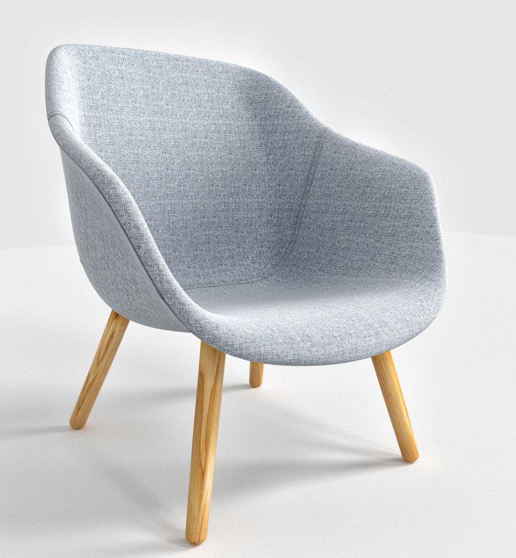 3D lounge chair grey hallingdal model