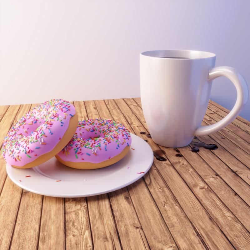 scene donut 3D