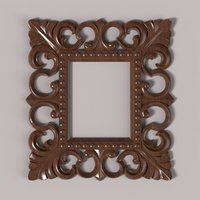 carved frame cnc model