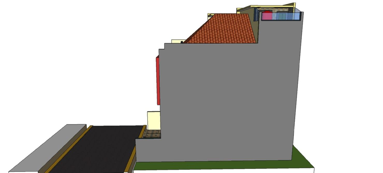 3D minimalist house model