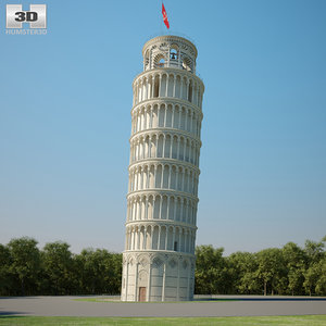 leaning tower pisa 3D model