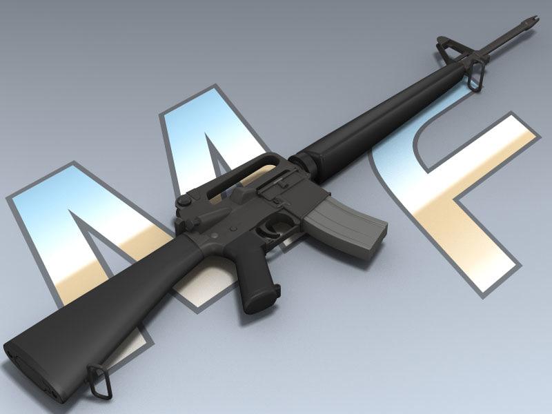 vietnam m16 rifle 3D model