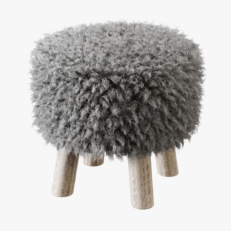 3D stool luxury gotland model