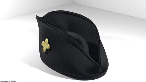 tricorn hat 3D model