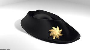 bicorn hat 3D model