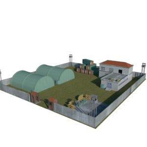 military camp 3D model