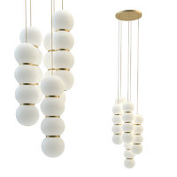 3D pearls chandelier 5