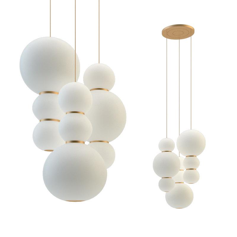 3D pearls chandelier 3 model