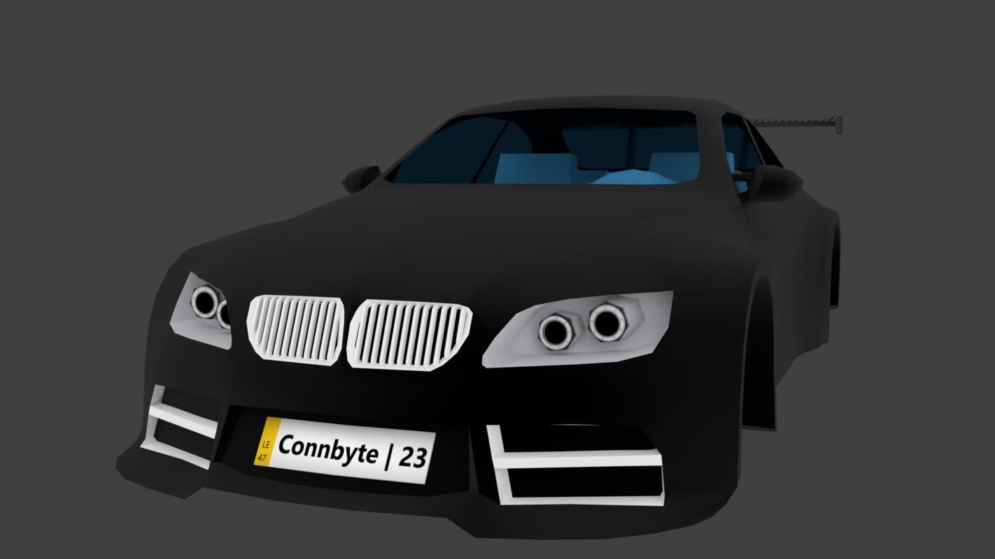3D model subboat-25 racing car