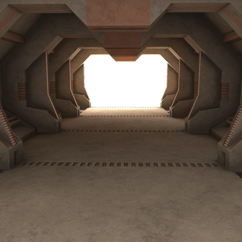 3D sci-fi interior