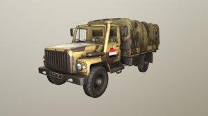 3D pbr gaz-3308 sadko syria model