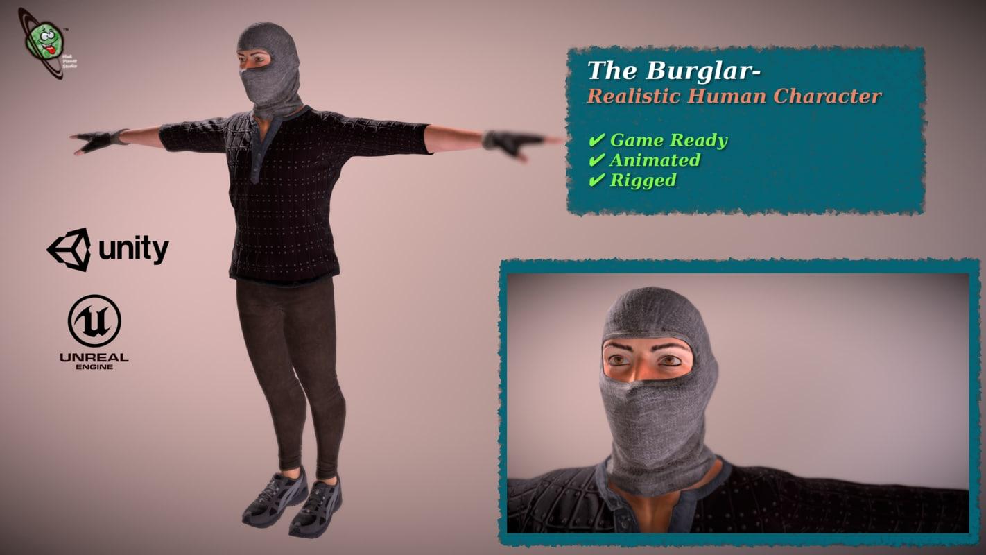 burglar - realistic ready 3D