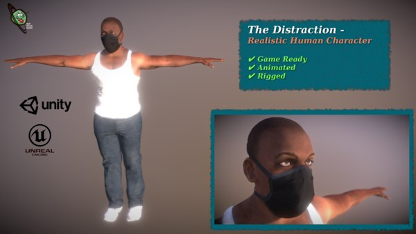 distraction - realistic ready 3D model