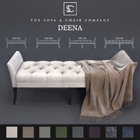 Ottoman Deena - The Sofa & Chair Company and Plaid