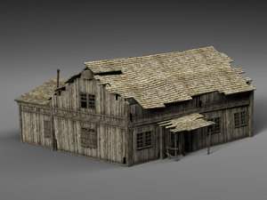abandoned old house 3D