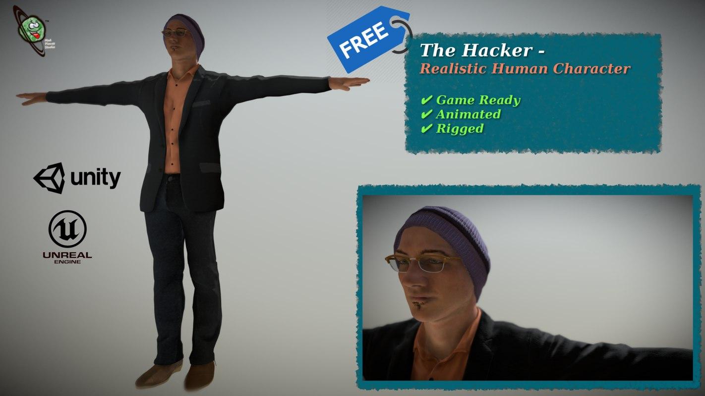 hacker - realistic ready 3D model