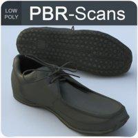 scans men s shoes 3D model