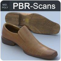 3D scans men s shoes