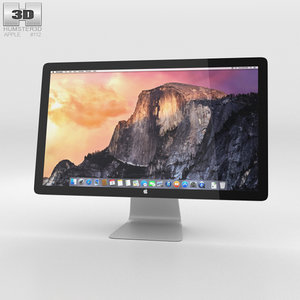 3D thunderbolt display apple