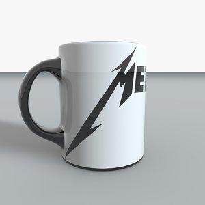 3D metallica mug metal model
